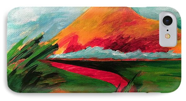 IPhone Case featuring the painting Pyramid Mountain by Elizabeth Fontaine-Barr