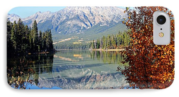 Pyramid Mountain Reflection 3 IPhone Case by Larry Ricker