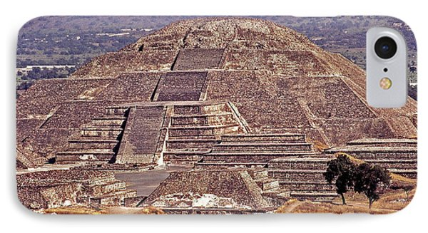 Pyramid Of The Sun - Teotihuacan IPhone Case by Juergen Weiss