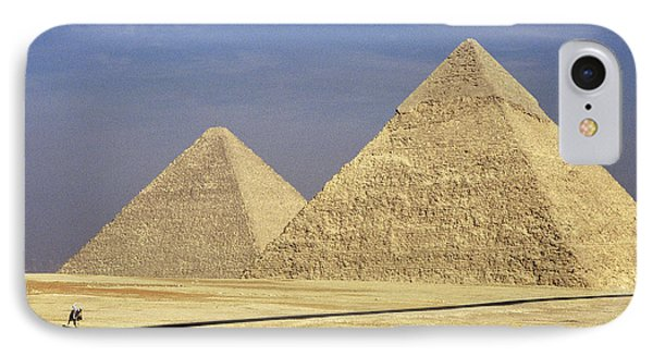 Pyramids At Giza IPhone Case by Mark Greenberg