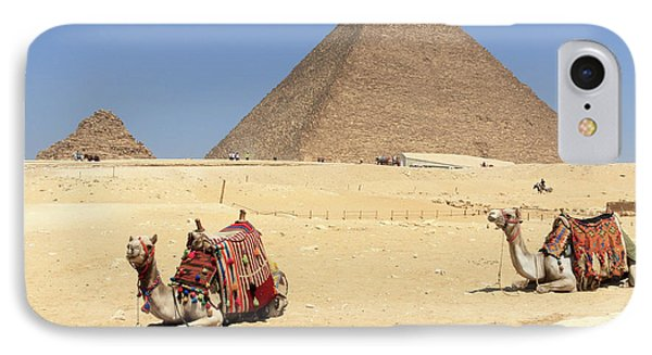 IPhone Case featuring the photograph Pyramids Of Giza by Silvia Bruno