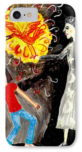 Pyro The Firebird Phone Case by Sushila Burgess