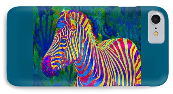 Pyschedelic Zebra IPhone Case by Jane Schnetlage