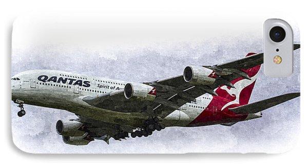 Qantas Airbus A380 Art IPhone Case
