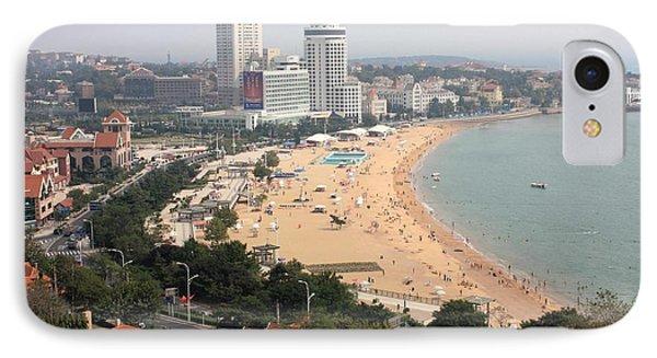 Qingdao Beach With Skyline Phone Case by Carol Groenen