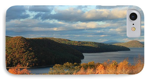 Quabbin Reservoir Foliage View IPhone Case by John Burk