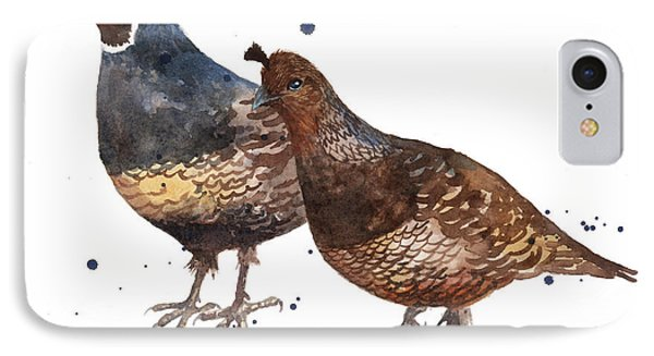 Quail Painting IPhone Case by Alison Fennell