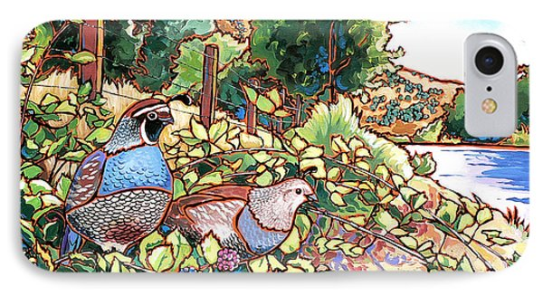 Quails And Blackberries IPhone Case by Nadi Spencer