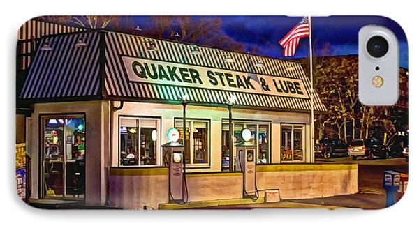 IPhone Case featuring the photograph Quaker Steak And Lube by Skip Tribby