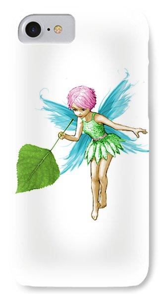 Quaking Aspen Tree Fairy Holding Leaf IPhone Case