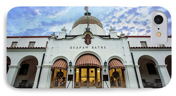 Quapaw Baths - Hot Springs IPhone Case by Stephen Stookey