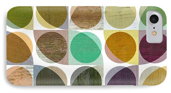 Quarter Circles Layer Project One IPhone Case by Michelle Calkins
