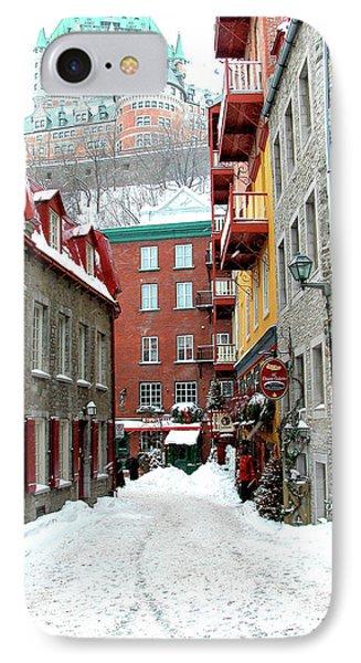 Quebec City Winter Phone Case by Thomas R Fletcher