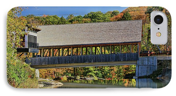 Quechee Covered Bridge # 2 IPhone Case by Allen Beatty