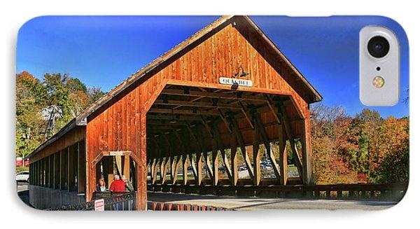 Quechee Covered Bridge IPhone Case by Allen Beatty