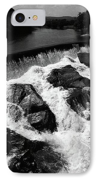 IPhone Case featuring the photograph Quechee, Vermont - Falls 2 Bw by Frank Romeo