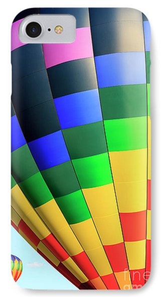 Quechee Vermont Hot Air Balloon Fest 2 IPhone Case by Edward Fielding