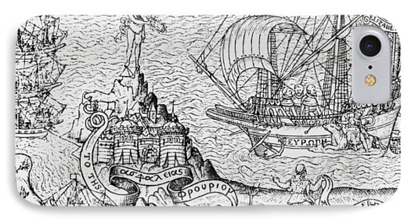 Queen Elizabeth I On Board A Ship IPhone Case by English School