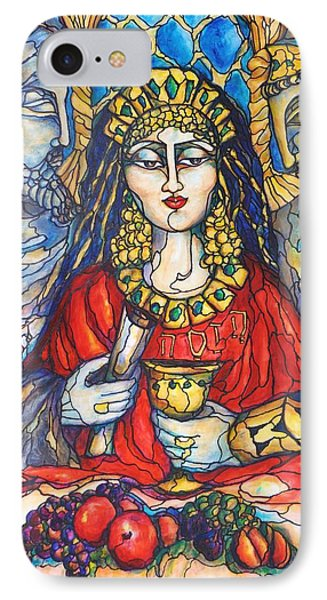 IPhone Case featuring the painting Queen Esther by Rae Chichilnitsky