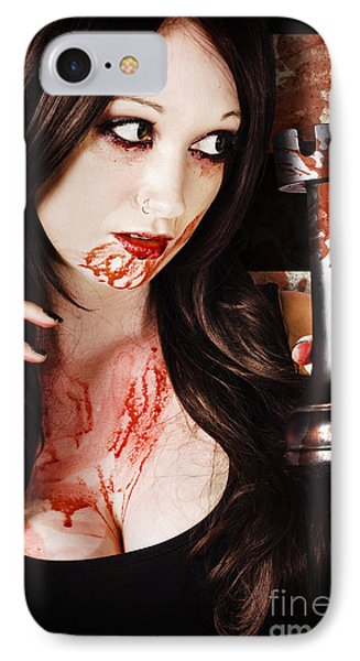 Queen In A Bloody Battle For The Castle Tower IPhone Case