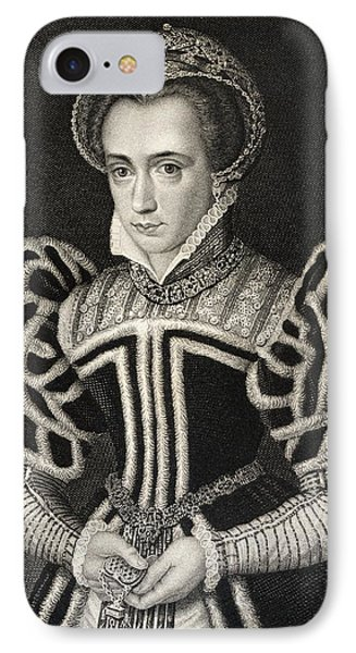 Queen Mary Aka Mary Tudor Byname Bloody IPhone 7 Case by Vintage Design Pics