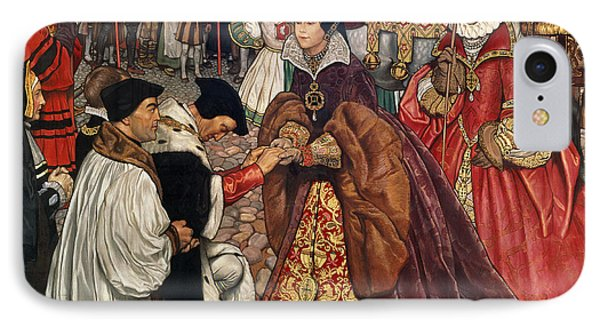 Queen Mary And Princess Elizabeth Entering London IPhone Case by John Byam Liston Shaw