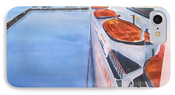 Queen Mary From The Bridge IPhone Case by Debbie Lewis