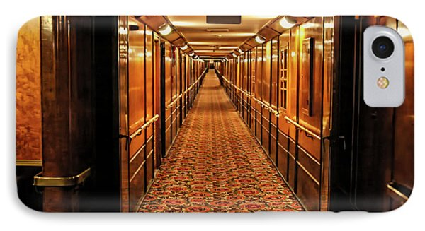 IPhone Case featuring the photograph Queen Mary Hallway by Mariola Bitner