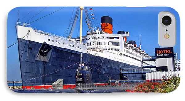 IPhone Case featuring the photograph Queen Mary Ship by Mariola Bitner