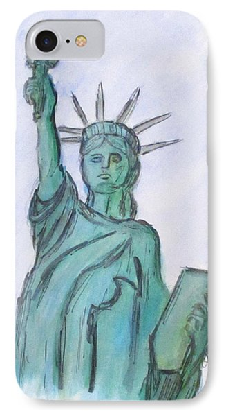 Queen Of Liberty IPhone Case by Clyde J Kell