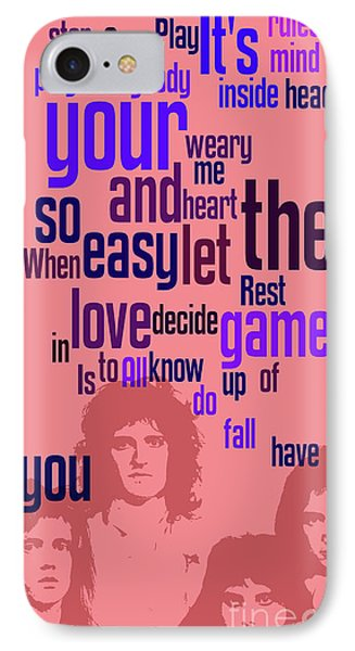 Queen. Play The Game. Can You Recognize The Song? Can You Recognize The Band? Game For Fans IPhone Case by Pablo Franchi