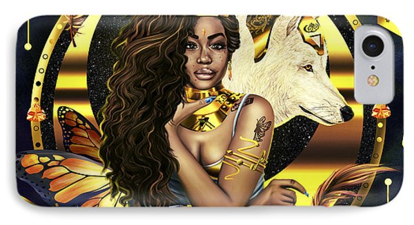 Queen Sza Illustration IPhone Case by Kenal Louis