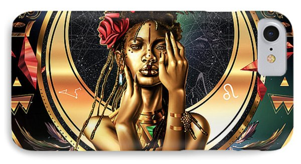 Queen Willow Illustration Of Gold IPhone Case by Kenal Louis