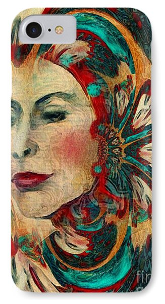 IPhone Case featuring the digital art Queenie by Alexis Rotella