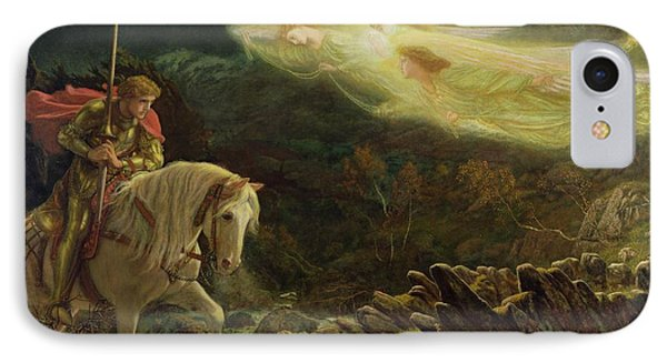 Quest For The Holy Grail IPhone Case by Arthur Hughes