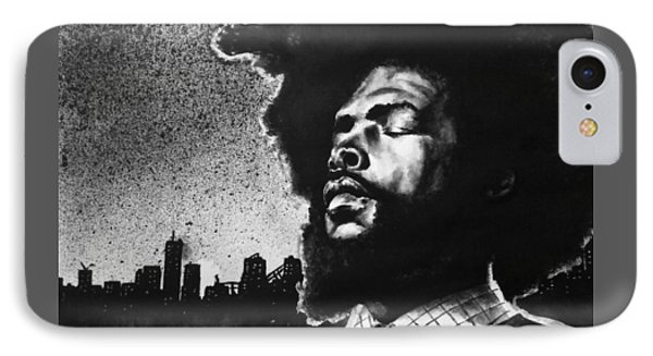 IPhone Case featuring the painting Questlove. by Darryl Matthews