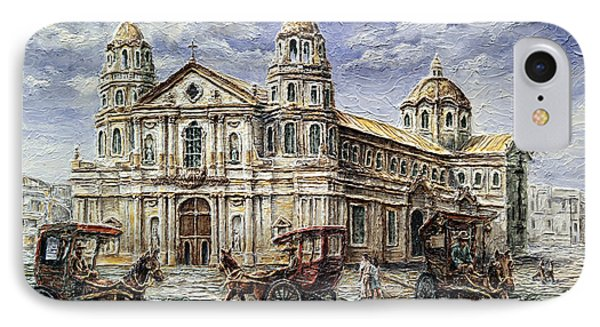 Quiapo Church 1900s IPhone Case by Joey Agbayani