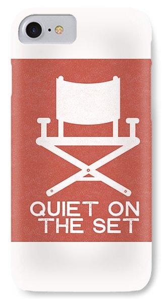 Quiet On Set 2- Art By Linda Woods IPhone Case by Linda Woods