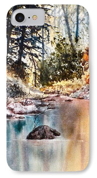 IPhone Case featuring the painting Quiet Reflections by Carolyn Rosenberger