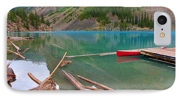 Moraine Lake I, Alberta IPhone Case by Heather Vopni