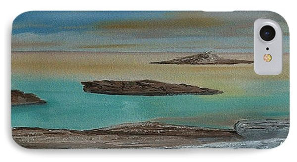 IPhone Case featuring the painting Quiet Tropical Waters by Rod Jellison