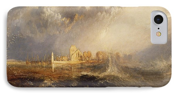 Quillebeuf  Mouth Of The Seine IPhone Case by Joseph Mallord William Turner
