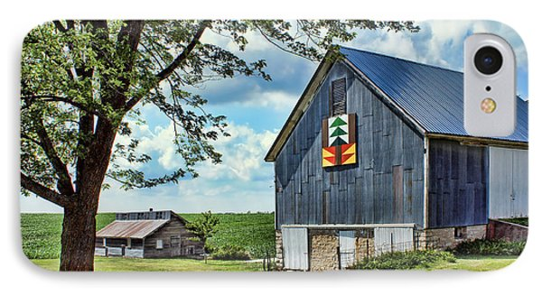 Quilt Barn - Nebraska - Forest For The Trees IPhone Case by Nikolyn McDonald