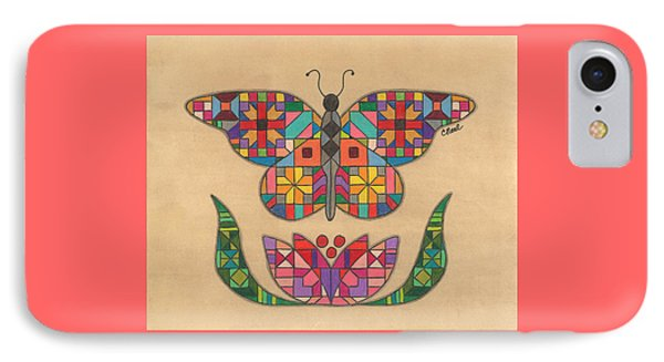 Quilted Butterfly IPhone Case