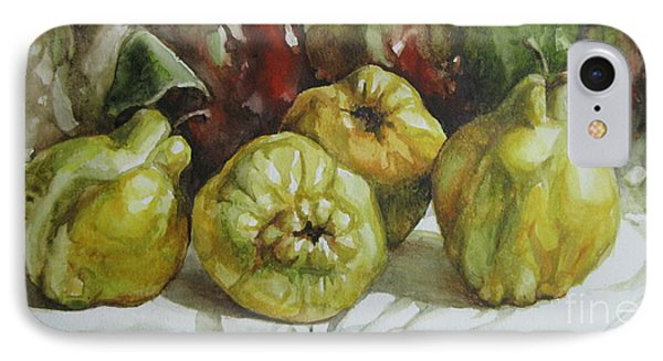IPhone Case featuring the painting Quinces by Elena Oleniuc