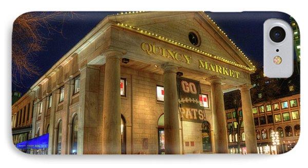 Quincy Market - Go Pats - Boston IPhone Case by Joann Vitali