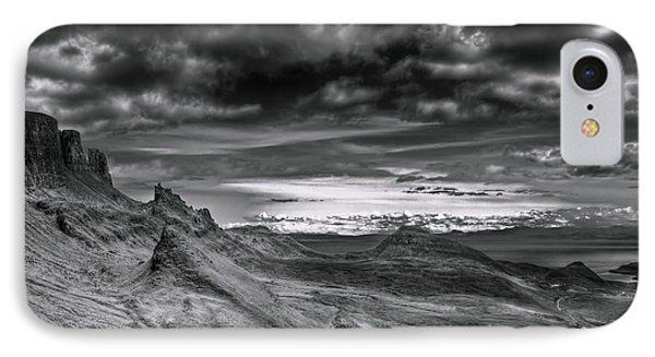 Quiraing On Isle Of Skye Scotland IPhone Case