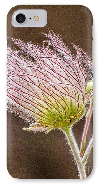 Quirky Red Squiggly Flower 1 IPhone Case