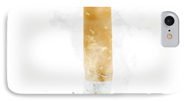 Quit Smoking With Stubbed Out Cigarette On White IPhone Case