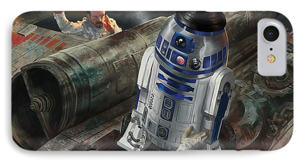 R2-d2 IPhone Case by Ryan Barger